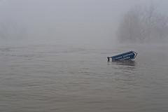 Fishing prohibited (sarazenfree) Tags: fog bosnia rs urbanlandscapes bih bosniaandherzegovina prijedor riversana flood2010
