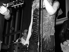 courtney love on new year's eve (andrewdkeller) Tags: show blackandwhite bw music rock concert gig newyearseve newyears standardhotel courtneylove boomboomroom