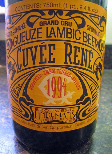 Lindemans Gueze Lambic Beer Cuvee Renee 1994