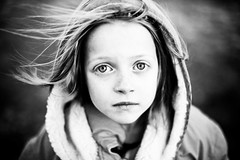 Wind swept ( {felicia.renee} ) Tags: blue hair eyes wind cassidy stare 5dmarkii