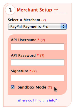 Sandbox Mode for Payment Integration