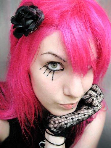 cabelo rosa emo