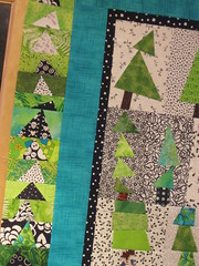 finishing up my tree quilt