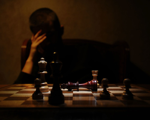 The chess masters defeat