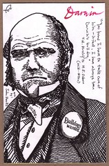 Darwin Postal Art (darwinsbulldog) Tags: art education mail postcard darwin evolution science charlesdarwin card postal biology huxley darwinday thhuxley thomashenryhuxley darwinsbulldog