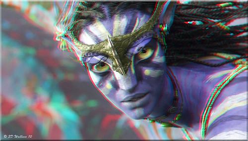 Avatar - Neytiri Flying (2D-3D Conversion) by starg82343