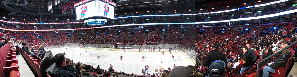 Panorama Centre Bell - Canadiens de Montréal - Rangers de New York