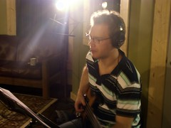 Tracking with the fretless 1 (ryland.haggis) Tags: studio drums bc bass drummer recording sessions abbotsford recordingstudio bassplayer electricbass rylandhaggis colinbullock furybass samheard anthembass