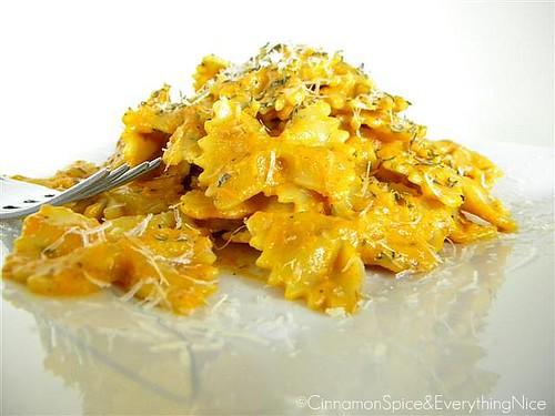 Roasted Carrot Cream Pasta Toss