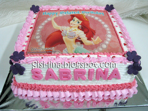 bday cake Ariel