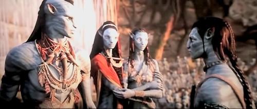 Tsu'Tey,Mo'At,Neytiri and Jake by Neytiri Dis'kahan Mo'at'itey Sully.