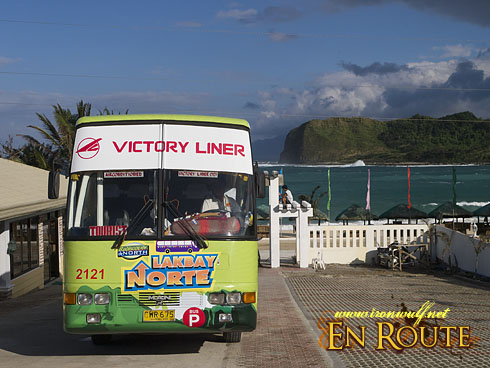 Lakbay Norte Bus at Blue Lagoon