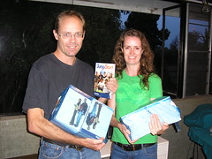 Chris and Telana with the 60 Jumpstart handbooks