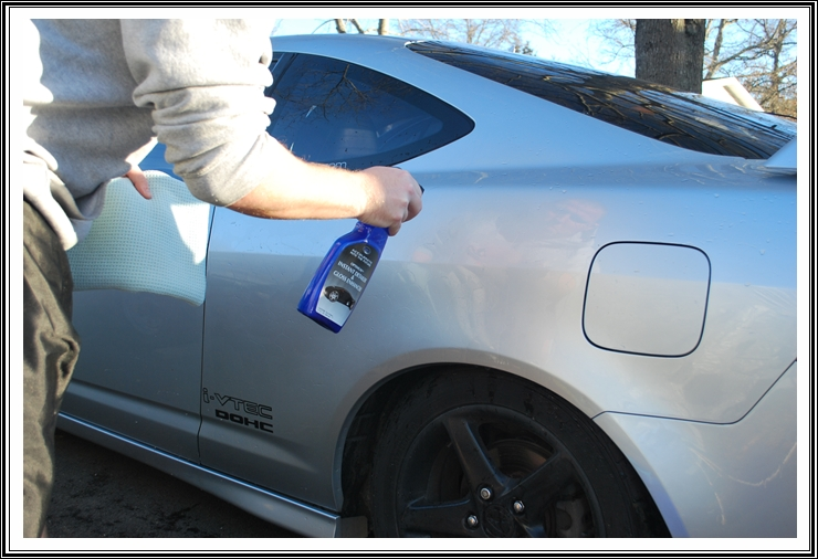 Optimum Instant Detail and Gloss Enhancer sprayed on Acura RSX