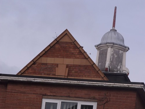 Acocks Green Primary School - from Westley Road - school bell on top of a tower