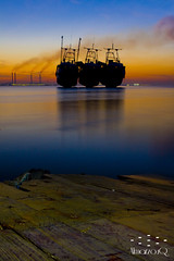 Huge ships (Almarzouq) Tags: sea nature canon boat ships kuwait scape bader  2470   50d almarzouq