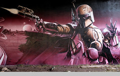 Brrrrr... (SmugOne) Tags: uk moon art wall painting real graffiti star scotland photo starwars 3d team mural paint gun artist comic unitedkingdom glasgow character cartoon picture scottish tunnel scene can smug spray scifi bobafett sciencefiction spraypaint boba wars graff aerosol aerosolart lazer spraycan realism fett realistic photorealistic photorealism teamalosta alosta smugone