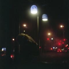 (Inside_man) Tags: newyork 120 6x6 tlr film colors girl rolleiflex mediumformat lights bokeh manhattan citylife starbucks blonde fuji400h
