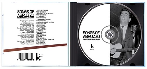 """""""Songs of Abruzzo - collected by Alan Lomax"""" (opened jewel case)"""