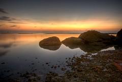Sunset on Had Yao Beach (jzakariya) Tags: sunset sea stone thailand sand nikon stones sigma d200 nikkor koh phangan jawad zakariya