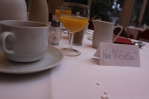 Breakfast table reserved!