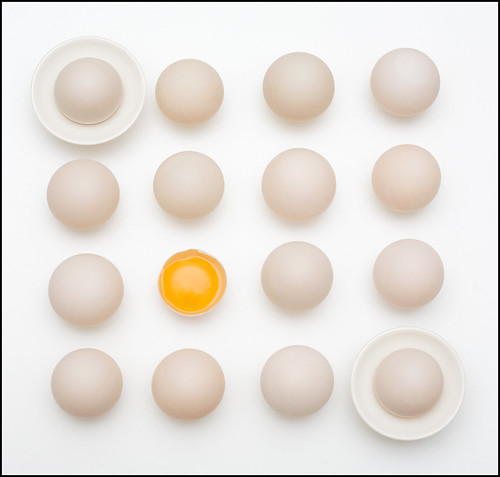 Less is More: Eggs on White (by Mark L Edwards)
