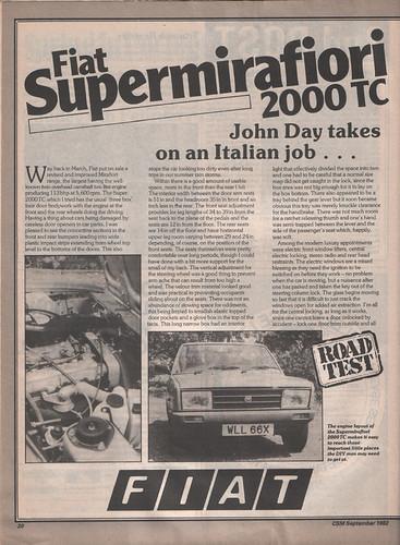 1978 Fiat 131 Supermirafiori. 1982 Fiat Supermirafiori
