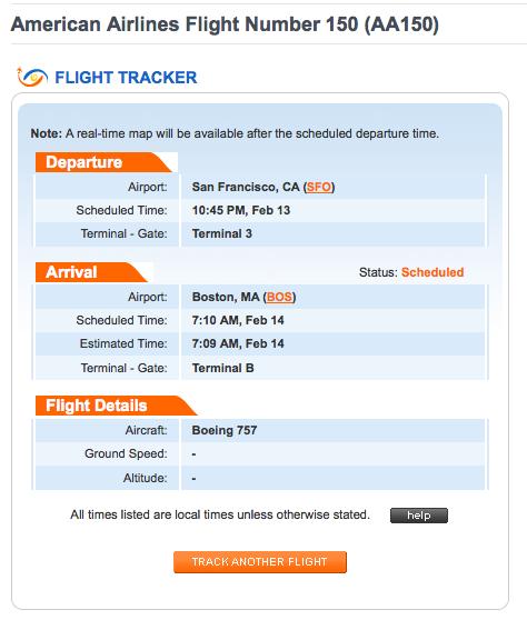 Tracking di un volo