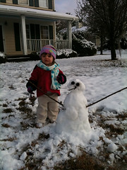 Kylie and the snowman (tofu) Tags: