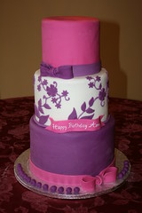 Sweet 16 (irresistibledesserts) Tags: birthday pink flowers wedding girl cake purple sweet feminine 16 bows sixteen