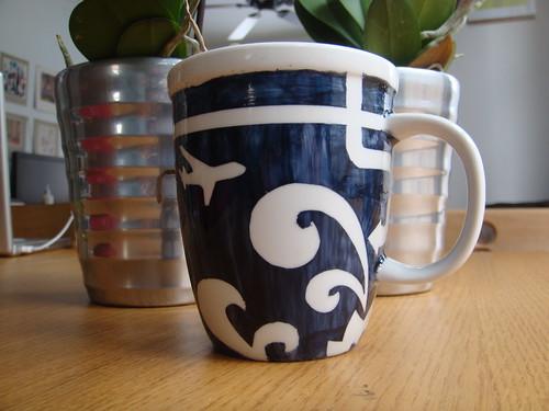 Stencil Mug Side View A
