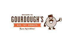 Gourdough's (cody_haltom) Tags: logo typography design clean donuts branding