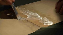 Liquid latex on latex (cesarharada.com) Tags: uk orange paris sussex energy university sailing open craft wave tape anaconda southampton adhesive selsey bulging converter flexible craftmanship fabrication craftman opensailing