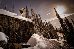 Gem Lake Cliff Drop (Clayton Arnall) Tags: snow snowboarding board snowboard snowboarder bigwhite cliffdrop