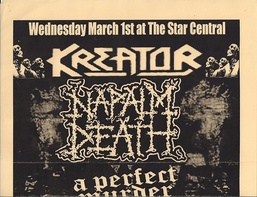 03/01/06 Kreator/Napalm Death/A Perfect Murder/Undying @ Minneapolis, MN (Poster - Top)