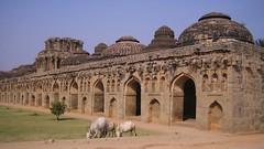 585. Hampi (3): Elephant Stables (profmpc) Tags: elephant stonecarving domes hampi stables charriot vijayavittalatemple vijayangara krishnadevarayar
