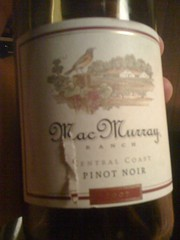 2007 MacMurray Central Coast Pinot Noir