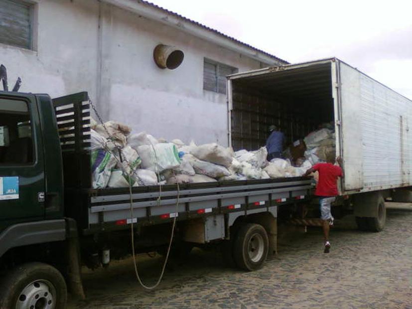 Prefeitura recolheu 11 mil embalagens em São José do Norte. Crédito: Divulgação