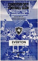Leicester City v Everton 66-67 (bullfield) Tags: everton doog filbertstreet leicestercity footballprogramme derekdougan