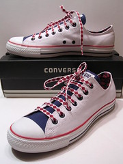 Argyle White, Navy & Red Ox (hadley78) Tags: shoe shoes ripleys ct ox guinness collection converse cons argyle allstar chucks chucktaylors allstars worldrecord hitops lowtops lowtop hitop joshuamueller hadley78 thatconverseguy