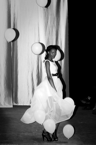 Floating Dreams Dress, Diana Eng's Fairytale Fashion Show at Eyebeam NYC / 20100224.7D.03539.P1.L1.C23.BW / SML (by See-ming Lee 李思明 SML)