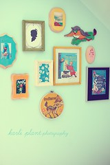 indiana's art (the gnome hut) Tags: cute art girl vintage fun kid colorful child cheery bright disneyland framed disney retro nostalgic hanging bambi kitschy hybrid grouping kidroom boopsiedaisy doecdoe tinybazaar