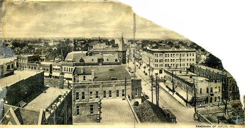 1906 to 1907 view of northwest Joplin featuring Fourth Street