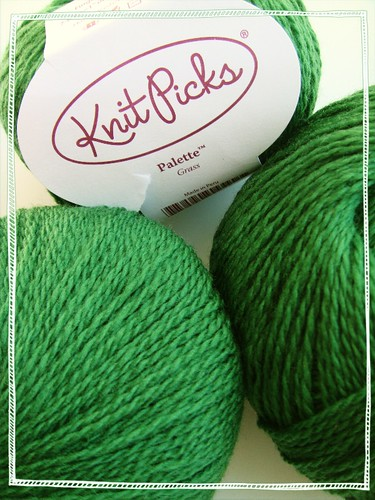 knitpicks palette in 'grass' green