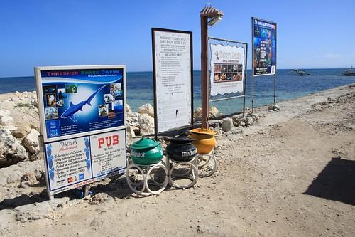 宿务最北端码头Maya的垃圾桶