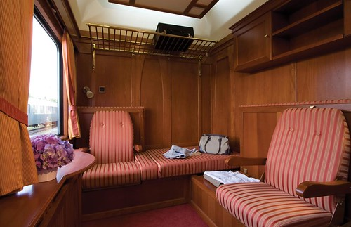 European charter train - premium suite with bathroom, by day