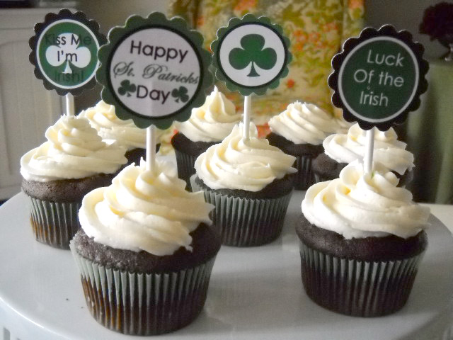 St. Patrick's Day Printable Cupcake Toppers