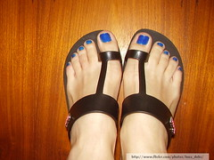 Azul Hortnsia (Risqu) (Luna (Debs)) Tags: blue feet azul ps nailpolish risqu esmalte azulhortnsia coleoarte