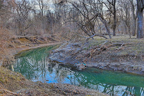 Gravois Creek, at Gravois Creek Conservation Area, in Saint Louis County, Missouri, USA - 3