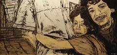 A fix point in life (kaeuflin) Tags: poverty street city boy brazil girl smile kids painting children town hug paint child sad adult poor rules laugh grin catch carf tough streetkids hold käuflin kaeuflin embracepaint